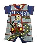Body bebé niño Mickey Pluto Donald algodón Disney * 23938 azul claro 6-9 Meses