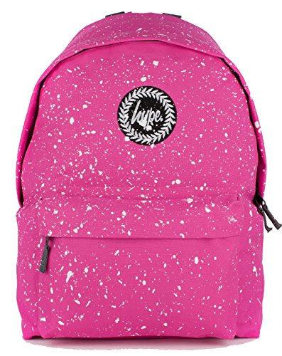 hype-backpack-rucksack-shoulder-bag-pink-white-speckle-for-boys-and-girls-women-and-men-pink-white-s