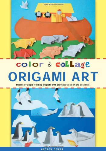 Color & Collage Origami Art Kit: Dozens of Paper-folding Projects With Playsets to Color and Assemble! -