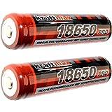 2x Kraftmax 18650 Pro Akku mit PCB Schutzschaltung - speziell für LED Taschenlampen ( 3,7V / 9,62 Wh )