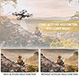 Virhuck FPV RC Drone with 720P HD Wi-Fi Camera Live Video 2.4GHz 6-Axis Gyro Quadcopter for Kids & Beginners - 120° Wide Angle Lens, Altitude Hold, One Key Start, Foldable Arms, Bonus Battery -Black