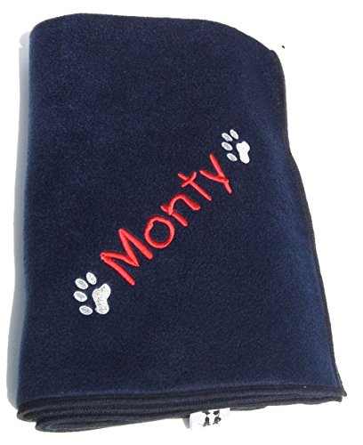hundeinfo24.de Cosy Paw Hundedecke, mit Personalisierung, 90 x 70 cm, Marineblau Für die Personalisierung der Decke bitte den Namen bzw. das gewünschte Wort per Geschenkmitteilungsfeld mitteilen. Dieses ist auf der Kaufabwicklungsseite zu finden.
