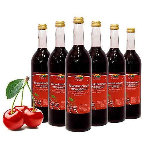 Bleichhof Sauerkirschsaft - 100% Direktsaft OHNE Zuckerzusatz und Zusatzstoffe, vegan (6x 0,72l)