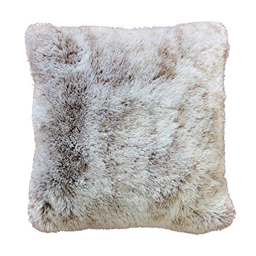 Douceur d'Intérieur Coussin Imitation Fourrure Antartic Polyester Choco 40 x 40 cm