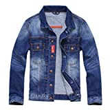 YiLianDa Herren Frühling Herbst Winter Jeansjacke Classic Jacke Denim Jeans Mantel Jacke Trechcoat Herbst