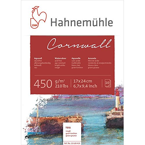 Aquarellblock Cornwall rau 450g 17x24cm 10 Blatt