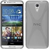 Funda de silicona para HTC Desire 620 - X-Style transparente - Cover PhoneNatic Cubierta + protector de pantalla