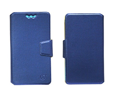 J Cover Reba Series Leather Pouch Flip Case With Silicon Holder For Huawei Ascend Mate 7 Monarch Blue  available at amazon for Rs.490