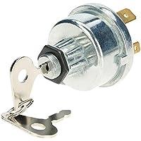 Llave de encendido de KKmoon, interruptor universal con 2 llaves para coche, tractor, remolque, 4 posiciones, encendido y apagado de calentador, arranque