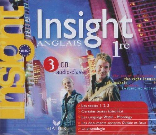 Insight - Anglais 1re, 3 CD Audio-Classe