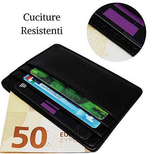 5d4e3c4667 Portafoglio Uomo Piccolo Slim Sottile Bleimont 2a Generazione Blocco RFID  Porta Carte Di Credito 4 Scomparti