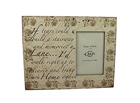 If Tears Could Build A Stairway - Lovely Modern Rememberence Frame by Global Designs