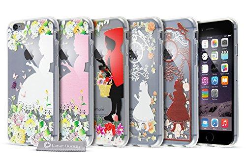Case Buddy Coque Motif Mode en gel silicone transparent et protection d'écran pour iPhone 6(4.7), paris, For iPhone 6S rouge