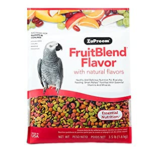 Zupreem FruitBlend Parrot Conure Medium to Large 3.5 LB /1.59Kg