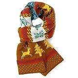 Kauftree Baby Kinder Schal Weihnachten Weihnachtsschal Winter Halstuch Kinderschal Mädchen Warm140x25cm (Khaki)