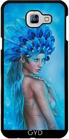 Hülle für Samsung Galaxy A8 2016 (SM-A810) - Zeichnung Der Schönen Frau Blu by Illu-Pic.-A.T.Art
