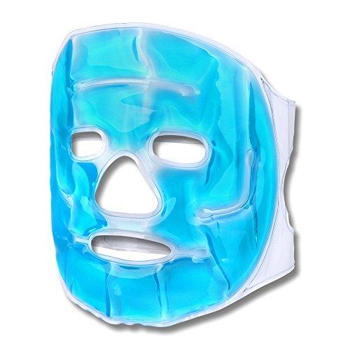 S/O Schramm® Kühlmaske Blau Gesichtsmaske Kühlbrille Augenmaske Gelmaske Schlafmaske Entspannungsmaske Gelbrille Migräne Maske Brille (Maske Für Gesicht)