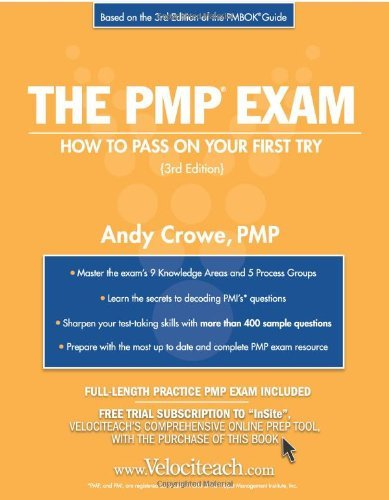Portada del libro The PMP Exam: How to Pass On Your First Try (Test Prep series) by Andy Crowe PMP (2005-11-01)