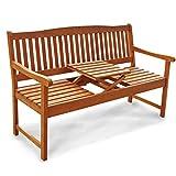 Indoba Gartenbank, 3-Sitzer mit Klapptisch