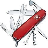 Victorinox Taschenmesser Climber, 14 Funktionen, Schere, Mehrzweckhaken, Korkenzieher, Lebenslange Garantie, rot