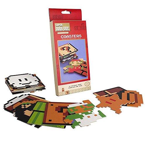 Nintendo - Super Mario Bros. - Untersetzer   Offizielles Merchandise (Block Mario)
