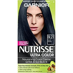 garnier nutrisse permanente haarfarbe bl 21 reflective blau schwarz beauty. Black Bedroom Furniture Sets. Home Design Ideas