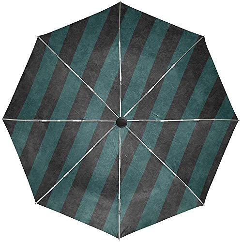 Automatischer Regenschirm Stripes zeichnet vertikale weiße Reise-Bequeme Winddichte wasserdichte faltende Auto-geöffnete Schließung