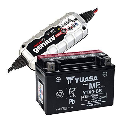 Yuasa YTX9-BS Versiegelte Batterie + Noco Ladegerät G1100EU -