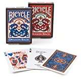 Bicycle - Set di carte Vintage Dragon Back con carta Gaff, colore: Rosso [importato da UK]