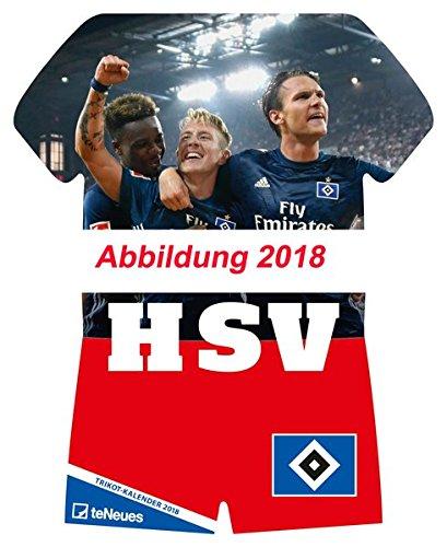 Hamburger SV 2019 - Fussball Kalender, Trikotkalender, Kalender HSV 2018  -  34 x 42 cm