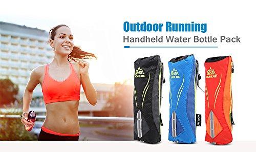Imagen de aonijie bolsa de botella de agua y movíl portátil,suave fundas,bolsa para maratón de mano  de hidrataciónal para deportes al aire libre azúl  alternativa