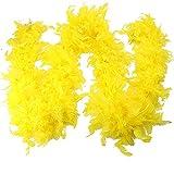 CANDLLY Schal Damen, Mode Damen Qualität Weiße Federboa Flapper Hen Night Burleske Dance Party Show Kostüm(Gelb,One Size