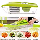Gearmax Vegetal máquina de cortar, cortadora de frutas y queso,Excelente para rebanar y triturar frutas y vegetales fina y uniformemente en corto tiempo