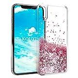 Coque iPhone XS/X,KOUYI Luxe Flottant Liquide Étui Protecteur TPU Bumper Cover...