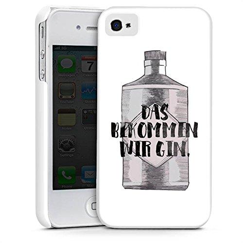 Apple iPhone X Silikon Hülle Case Schutzhülle Spruch Statement Das bekommen wir Gin Premium Case glänzend