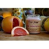 Cozy Glow Rosa Grapefruit Soja Kerze Jar - 35 + Stunden Burning Time