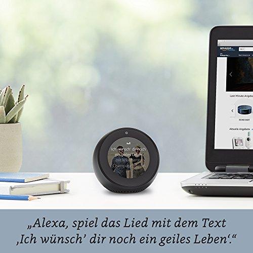 Wir stellen vor: Amazon Echo Spot - Schwarz - 3