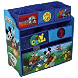 Disney Mickey Mouse Wooden Multi Tray Toy Box Storage Organiser
