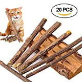 20 PCS Matatabi Sticks, Beetset Cat Catnip Sticks Cleaning Teeth Natural SilverVine Matatabi
