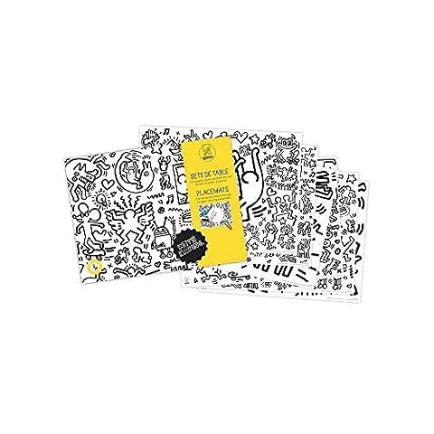 Sets de table à colorier - thématique Keith Haring - Lot de 24
