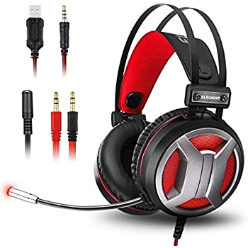 elegiant gaming headset gaming kopfh rer over ear amazon. Black Bedroom Furniture Sets. Home Design Ideas