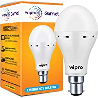wipro NE9001 9 Watts B22 LED White Emergency Bulb (White)