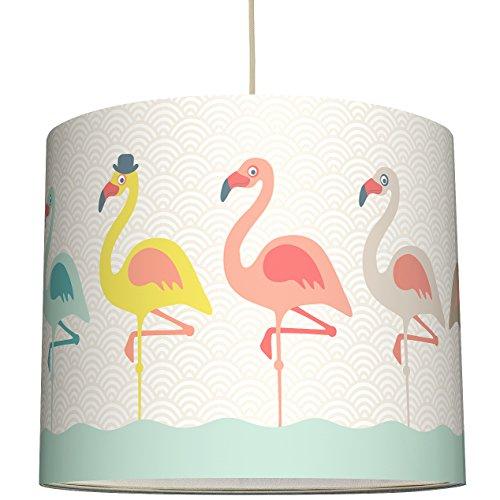 anna wand Lampenschirm FUNNY FLAMINGOS – Schirm für Kinder / Baby Lampe mit Flamingos in versch. Farben – Sanftes Licht für Tisch-,...