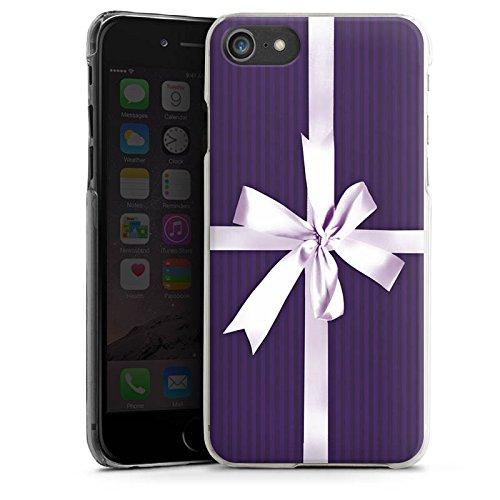 Apple iPhone X Silikon Hülle Case Schutzhülle Geschenk Schleife Lila Hard Case transparent