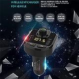 ZYX Wireless Auto Ladegerät FM Radio Adapter Auto mit Freisprecheinrichtung und 2 USB Ladegerät Bluetooth FM Transmitter Für Mobiltelefon,Black
