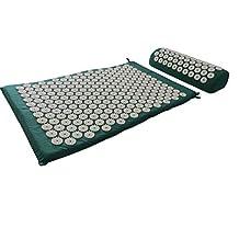 HQ Akupressurmatte Massagematte / Matte + Kissen + Tasche SET / Nagelmatte Yantramatte Yogamatte grün green eco