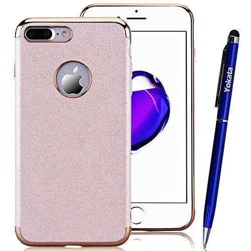 iPhone 7 Hülle, Yokata Luxury Weich Silikon Case Überzug Schutz Anti-stoß Schutzhülle + 1 x Kapazitive Feder Champagner