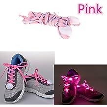 Namsan® LED light up lacci lampeggiante nylon lacci per scarpe, Pink, S