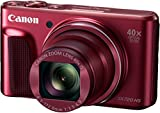 Canon PowerShot SX720 HS Digitalkamera (20,3 Megapixel CMOS-Sensor, 7,5 cm (3 Zoll) LCD-Display, 40 x Zoom, Full HD, WLAN) rot
