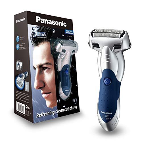 Panasonic Nass/Trocken-Rasierer ES-SL41-S503 mit 3 Scherelementen, ausklappbarer Langhaarschneider, praktische Ladestation (Panasonic Nass-trocken Rasierer)